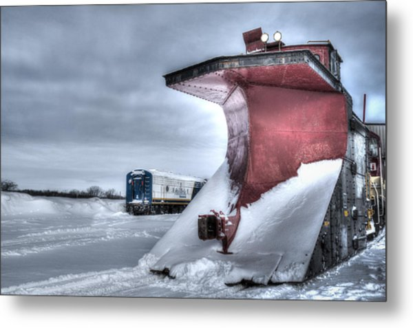 Canadian Pacific Snow Plow Metal Print