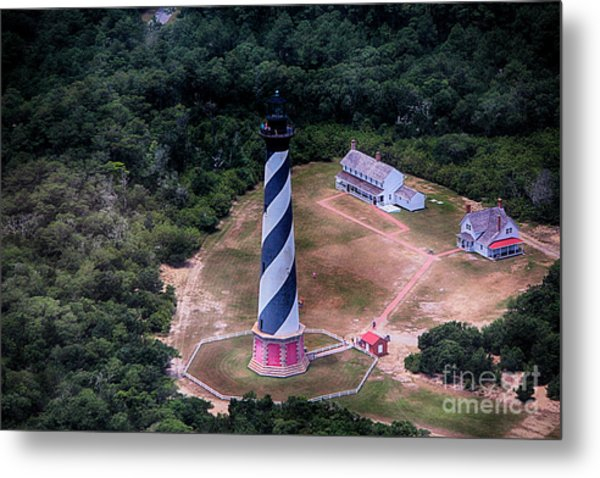 Cape Hatteras Lighthouse From Above Metal Print