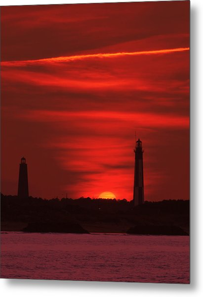 Cape Henry Lighthouses  Metal Print