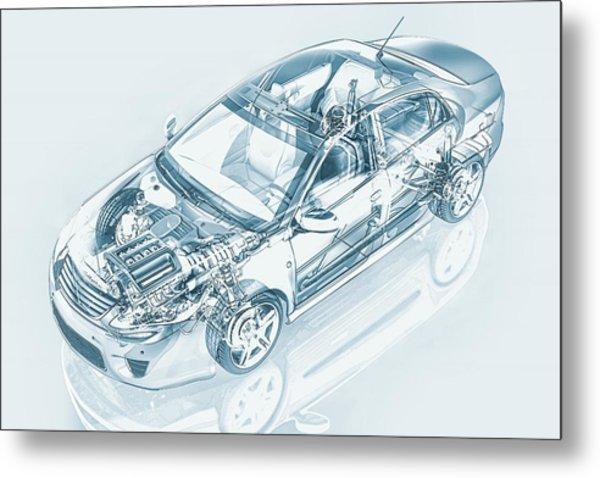 Car, Artwork Metal Print by Leonello Calvetti