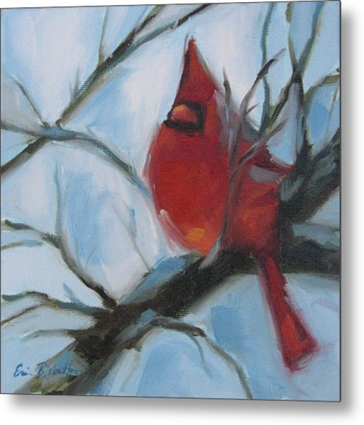Cardinal Composed Metal Print
