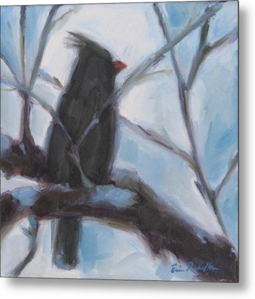 Cardinal Reposed Metal Print