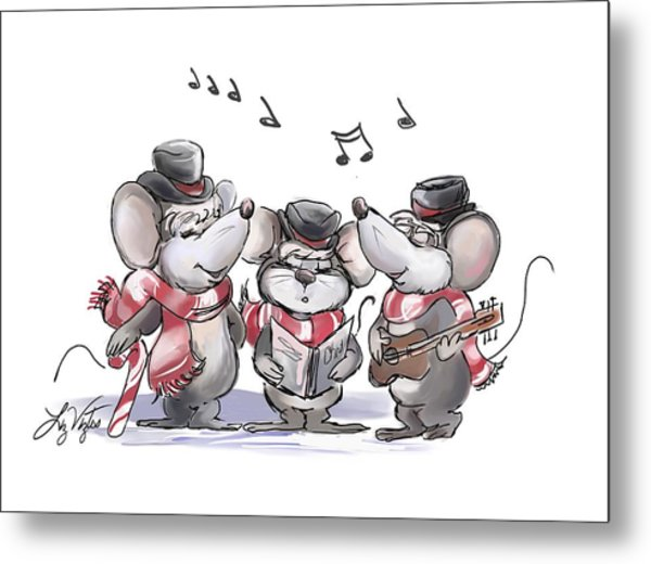 Caroling With Mic Mac And Moe Metal Print