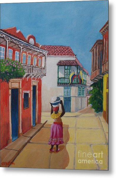 Cartagena Seller Metal Print