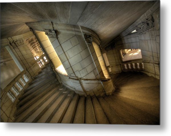Castle Stairs Metal Print by Ioan Panaite
