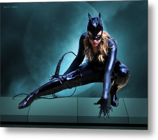 The Feline Fatale Metal Print
