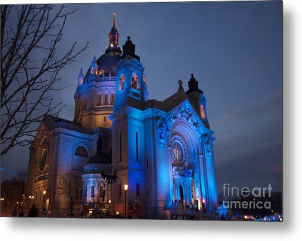 Cathedral Of Saint Paul - Crashed Ice Metal Print by Kevin Jack