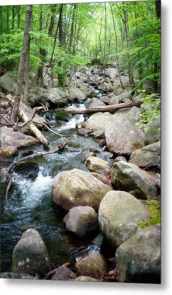 Catskills Waterfall Metal Print