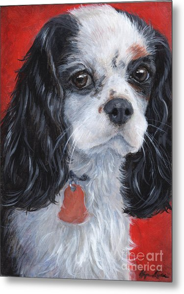 Cavalier King Charles Spaniel Metal Print by Hope Lane