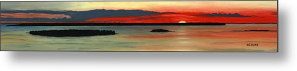 Chambers Island Sunset II Metal Print