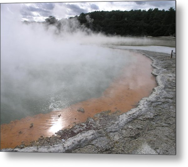 Champagne Pool Metal Print
