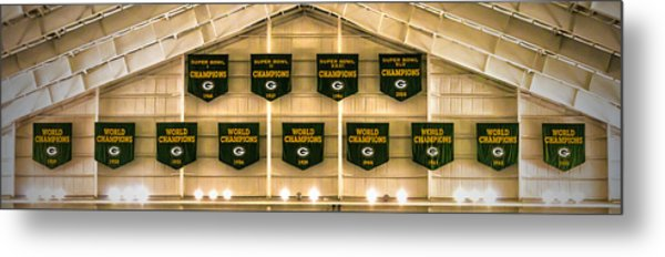 Championship Banners Metal Print