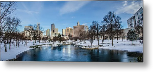 Metal Print featuring the photograph Charlotte Downtown by Alex Grichenko