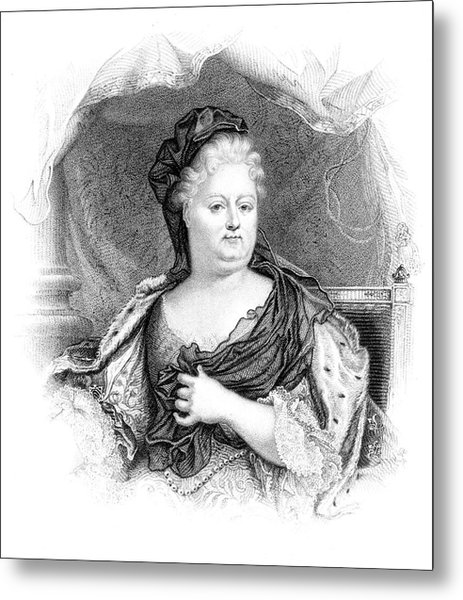 Charlotte-elisabeth Duchess Of Orleans Metal Print by Mary Evans Picture Library