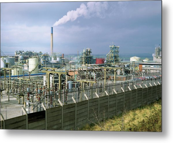 Chemical Works Metal Print by Robert Brook/science Photo Library