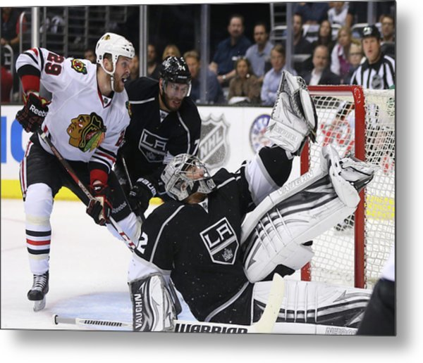 Chicago Blackhawks V Los Angeles Kings Metal Print