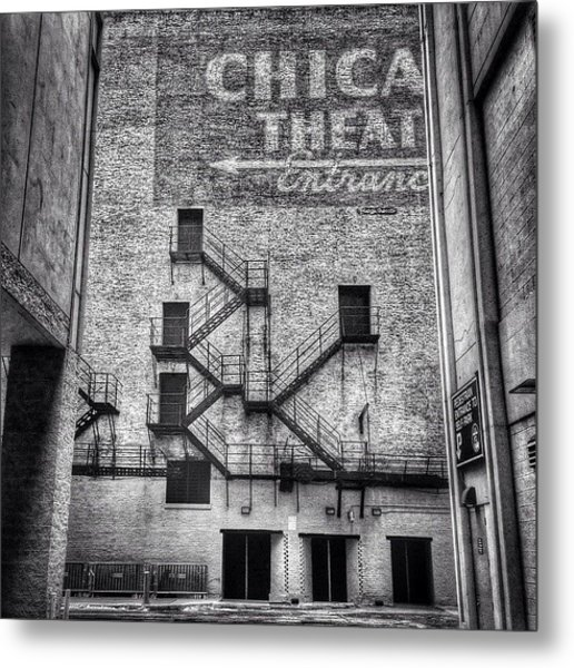 Chicago Theatre Alley Entrance Photo Metal Print