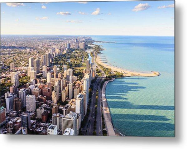 Chicago Lakefront Skyline Metal Print by Fraser Hall
