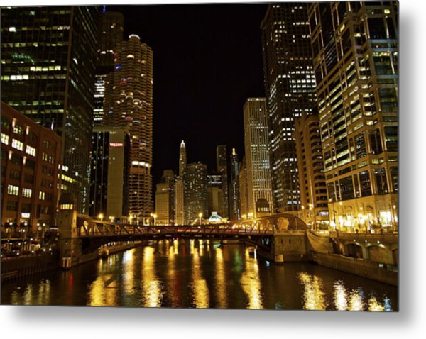 Chicago Nightscape Metal Print