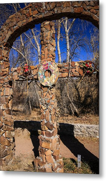Chimayo Cross Metal Print
