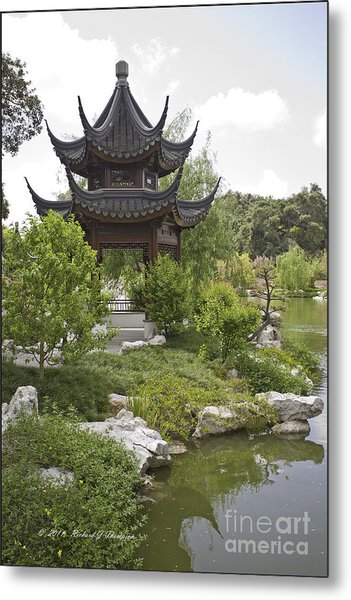 Chinese Water Garden Metal Print