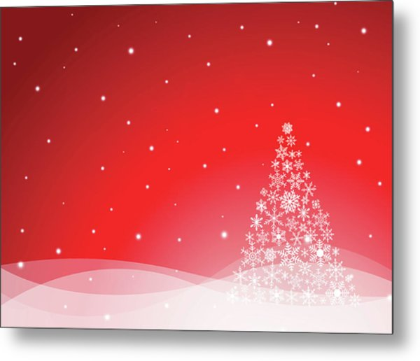 Christmas Background Metal Print by Traffic analyzer