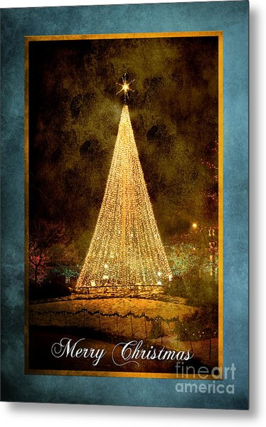 Christmas Tree In The City Metal Print