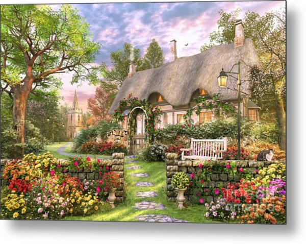 Church Lane Cottage Metal Print