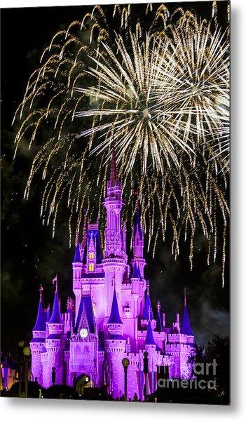 Magic Kingdom Cinderella Castle Metal Print