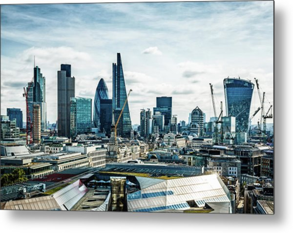 City Of London, London, Uk Metal Print by Mbbirdy