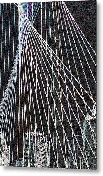 City Through The Bridge 2 Metal Print