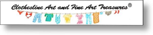Clothesline Gallery Logo Metal Print