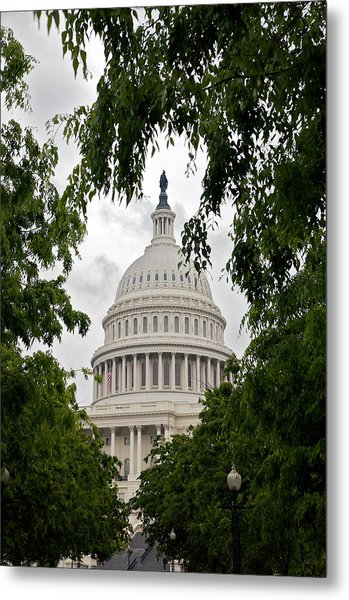 Clouds Over The Capitol Metal Print