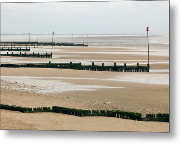 Coastal Defences Metal Print by Colin Cuthbert/science Photo Library