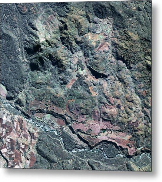 Colonia Dignidad Metal Print by Geoeye/science Photo Library