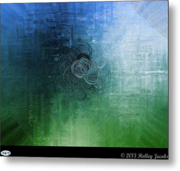 Color Sensation Teal Metal Print by Holley Jacobs