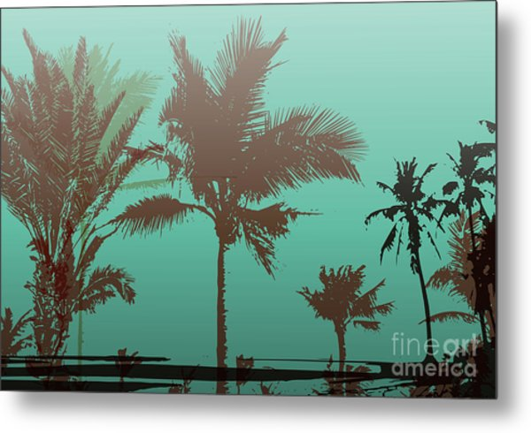 Colorful Background With Silhouette Of Metal Print by Romas photo