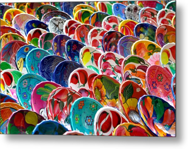 Colorful Mayan Bowls For Sale Metal Print