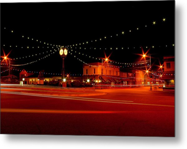 Columbiana Ohio Christmas Metal Print