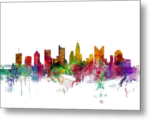 Columbus Ohio Skyline Metal Print