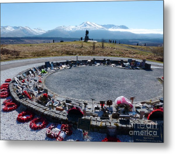 Commando Memorial - Spean Bridge Metal Print by Phil Banks