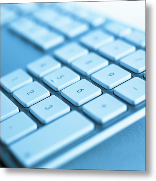 Computer Keyboard Metal Print by Science Photo Library