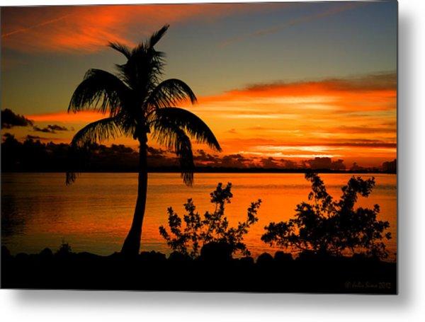Conch Key Bay Sunset Metal Print