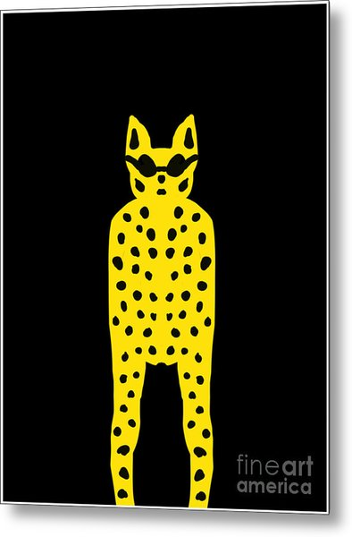 Simply Cool For Cats  Metal Print