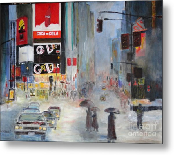 Cool New York Metal Print