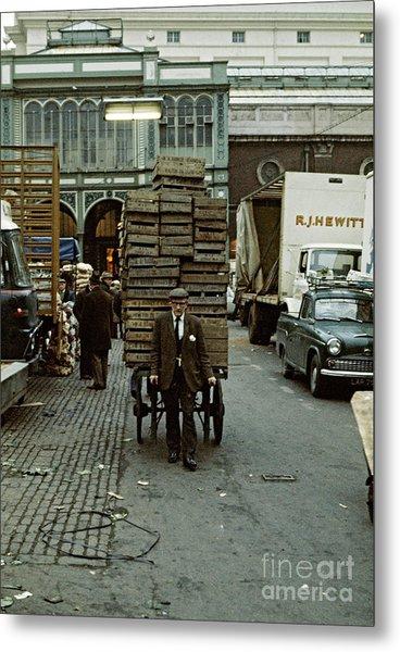 Covent Garden Market 1973 Metal Print by David Davies