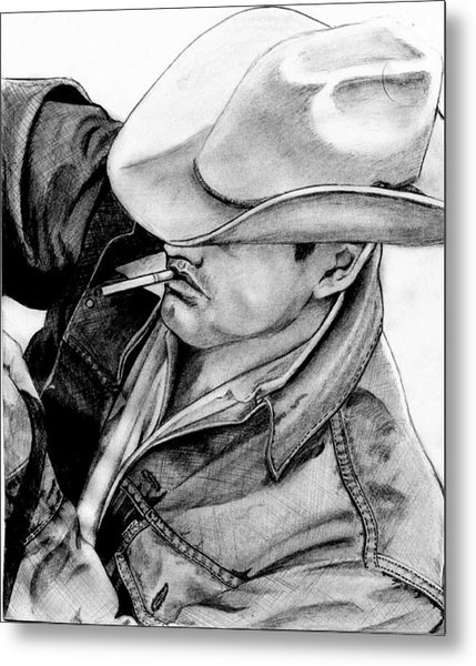 Cowboy Metal Print