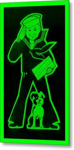 Crackerjack Green Metal Print