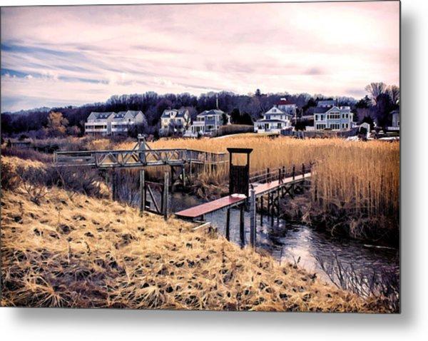 Crossing The Eel River  Metal Print