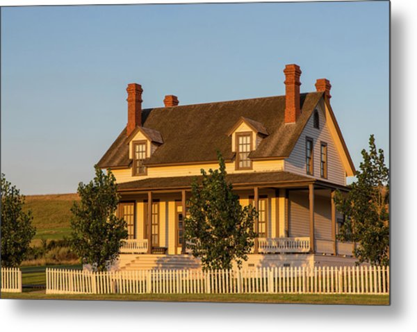 Custer House At Fort Lincoln State Park Metal Print